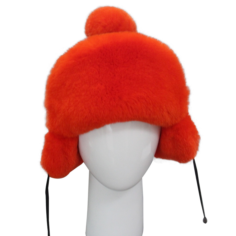 Children Warm Natural Real Rabbit Fur Hat Winter Warm Ear Thick Whole Fur Cap Beanie Lovely Baby Ear Hats for Girls Boys H#36