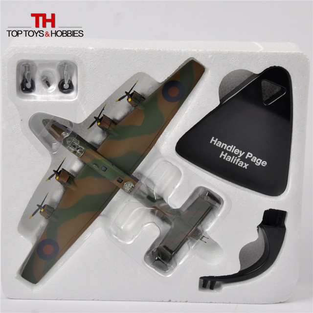 ATLAS 1/144 WW2 British RAF (Royal Air Force) Handley Page Halifax DTG 1943 Model Fighter Toys Juguetes Collection