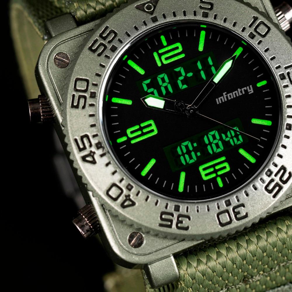 INFANTRY Męskie Zegarki Kwarcowe Nowy Wojskowy Zielony Wojskowy - Męskie zegarki - Zdjęcie 3