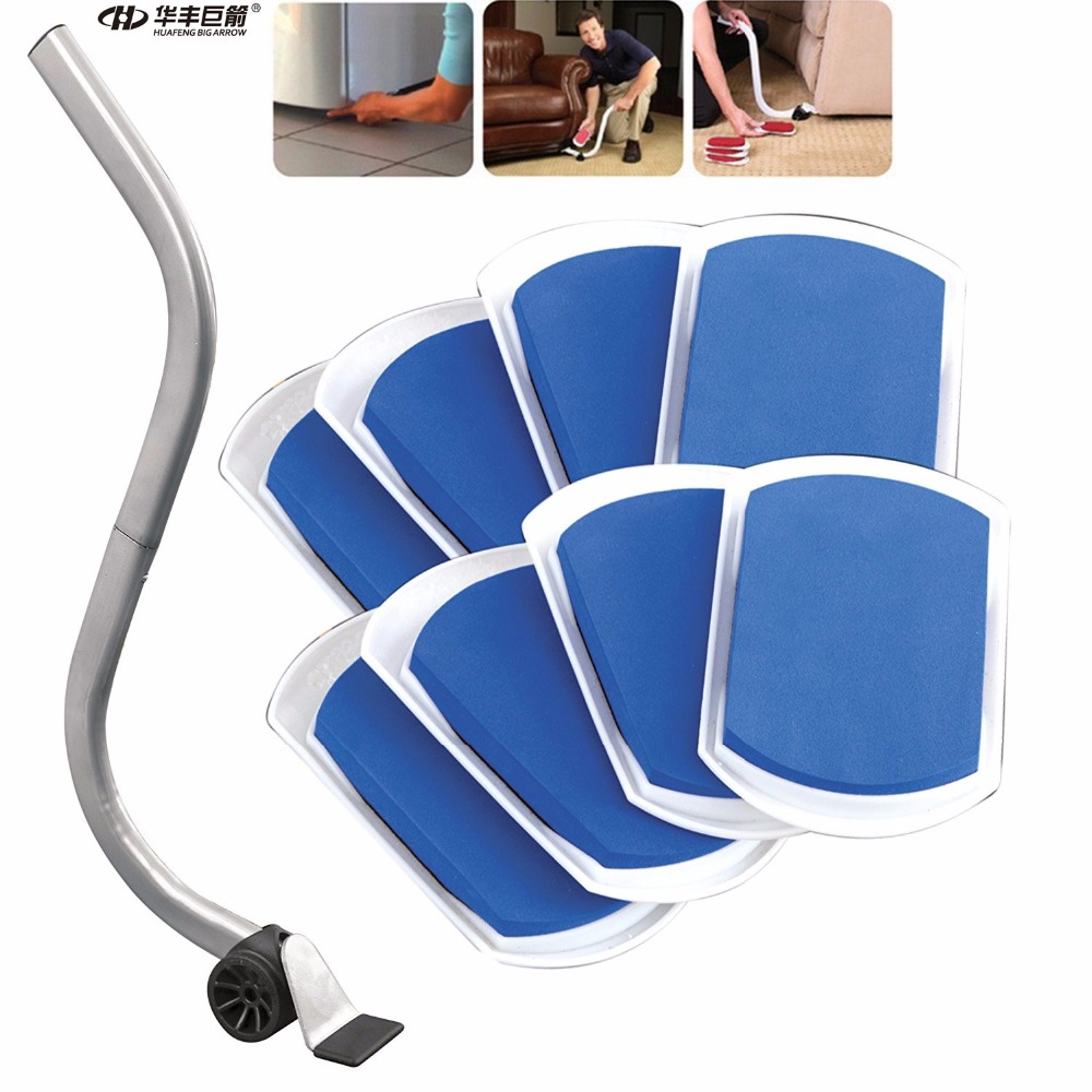 Tool Sets Hand Tool Sets Kind-Hearted Slide-eez Lift System One Lifter And 8 Sliding Pads To Move Furniture And Appliance Across Any Surface With Ease