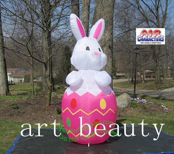 Beautiful RABBIT Easter Bunny Inflatable With Egg Outdoor Easter Decor