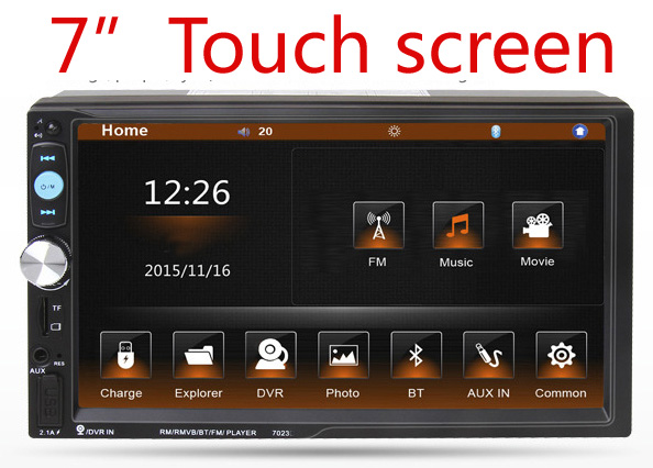 Newest 2 Double Din Car Dvd Player Stereo Video Multimedia Universal Head Unit Double BT MP3