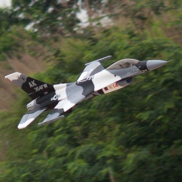 Avion RC EDF jet nouveau Flightline F16 F 16 70mm noir avion camo modèle 6 S PNP-in Avions télécommandés from Jeux et loisirs    1