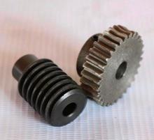 1set/lot  2M-30T Reduction Ratio:1:30 Carton Steel Worm Gear   -Gear Hole:12mm  Rod Hole:12mm 1 5m 50t reduction ratio 1 50 45steel worm gear reducer transmission parts wore gear hole 10mm d 79 5mm rod hole 6mm