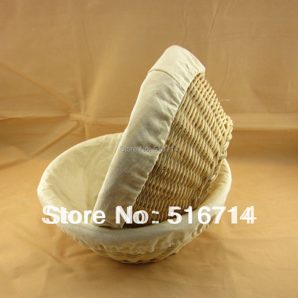 Willow Wicker Storage Basket With Liner For Home: Wholesale Round 22x8.5cm Wicker Willow Rattan Bread/Fruit