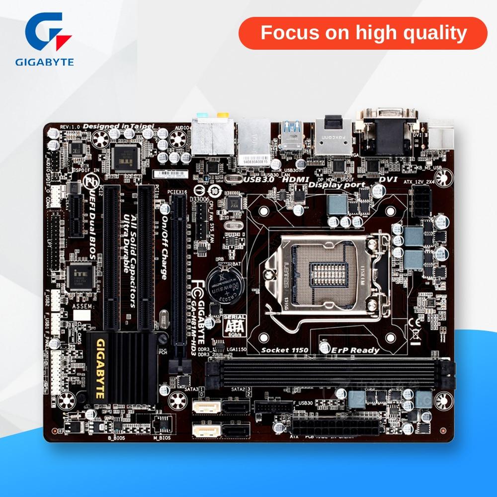 все цены на Gigabyte GA-H81M-HD3 Desktop Motherboard H81M-HD3 H81 LGA 1150 i3 i5 i7 DDR3 16G Micro-ATX