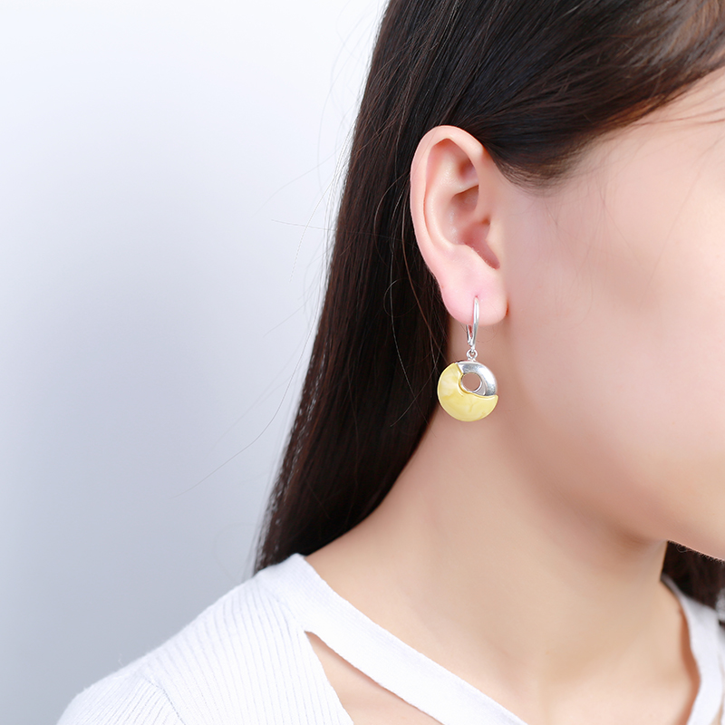JIUDUO Yellow Amber Drop Earrings Fine Jewelry Solid 925 Sterling Silver Gorgeous Classic Earrings For Women игровая палатка shantou gepai пчелкин домик сумка 889 127b