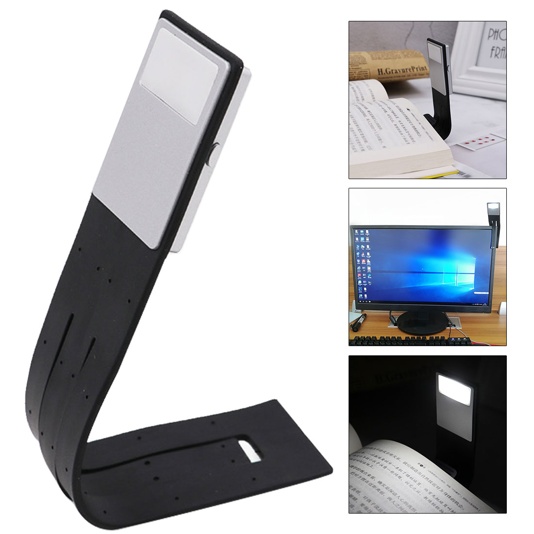 New Portable Flexible Folding LED Clip On Reading Book Light Lamp For Reader Kindle