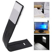 Portable LED Reading Book Light With Detachable Flexible Clip USB Rechargeable Lamp For Kindle/eBook Readers(China)
