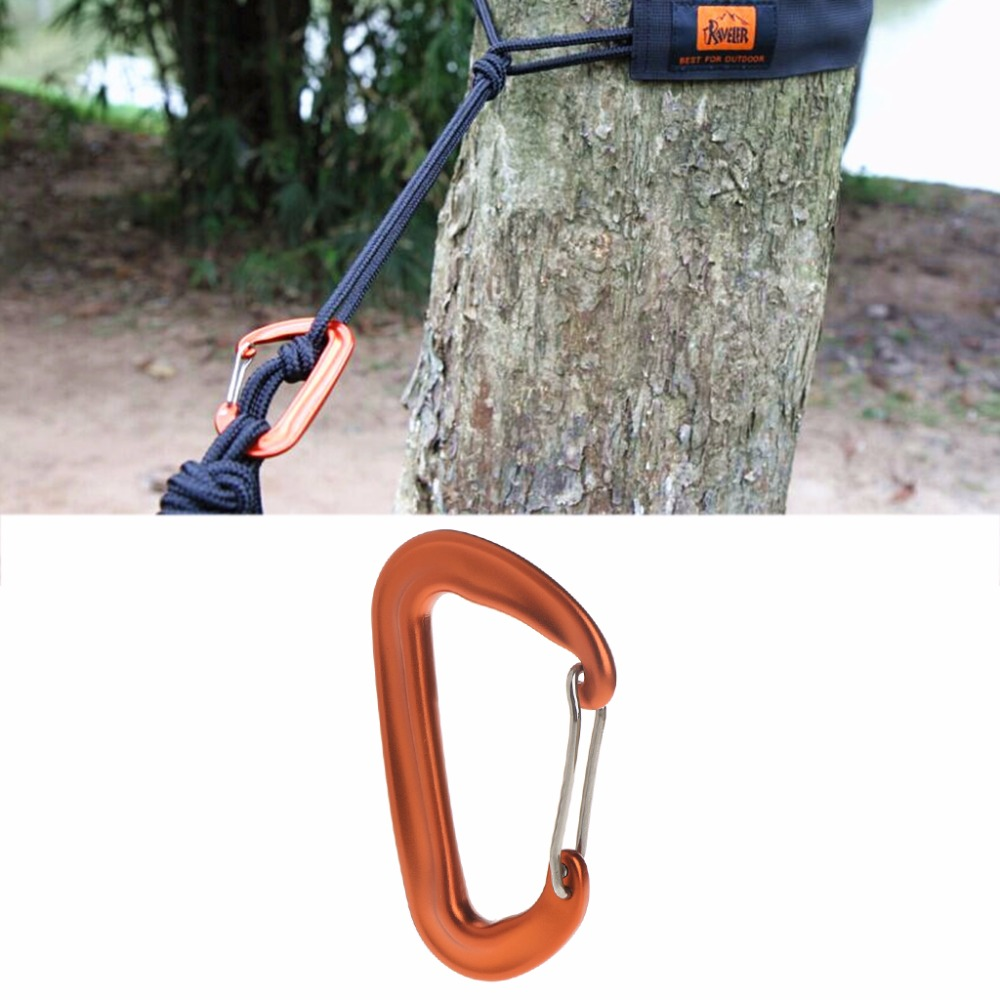 Aviation Aluminum 12KN Hammock Safety Balance Carabiner Clasp Camping Outdoor|Outdoor Tools| |  - title=