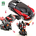 RC Автомобиль Bugatti Один Клик Трансформации Роботы Дистанционного Управления Optimus Prime Шмель Toys & Хобби Rc Car Toys Подарочной Коробке