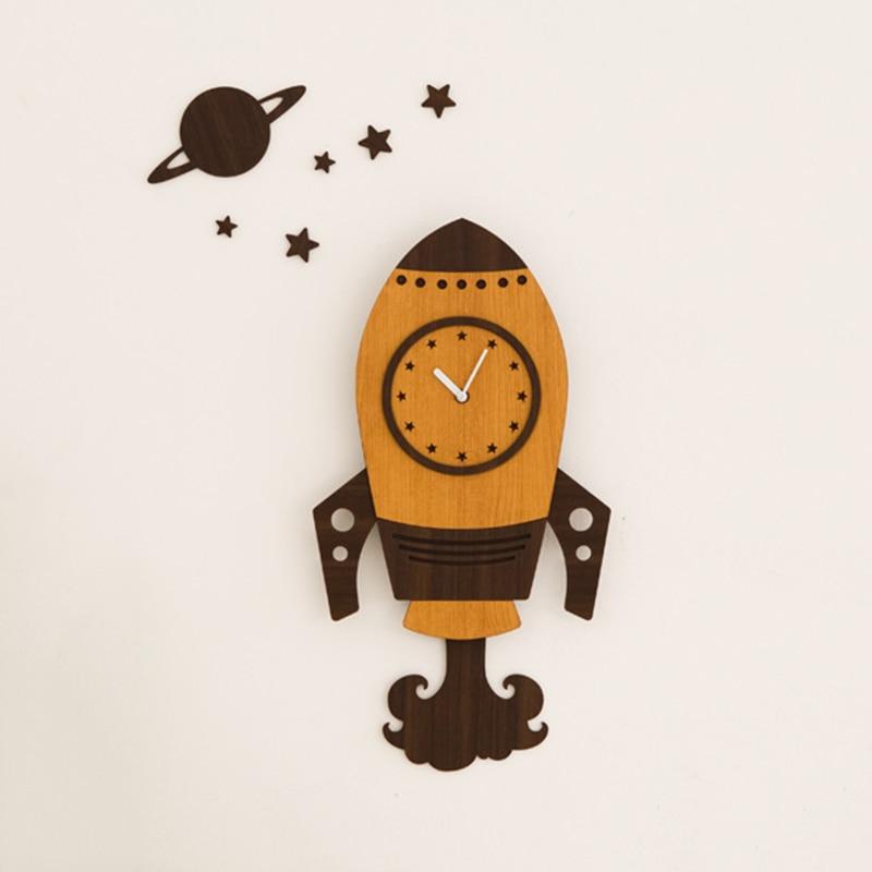 Rocket Wall Hanging Clock