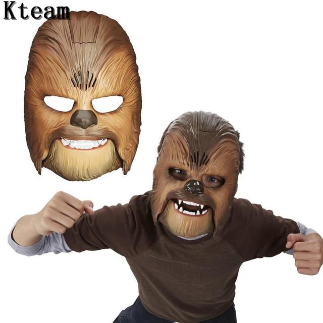 Canlı Ses Maskeleri Yıldız Savaşları Kuvvet Uyandırır Chewbacca Maskesi Elektronik Işık Parti ve Cadılar Bayramı Maskesi Oyuncaklar Için Ses ile erkek