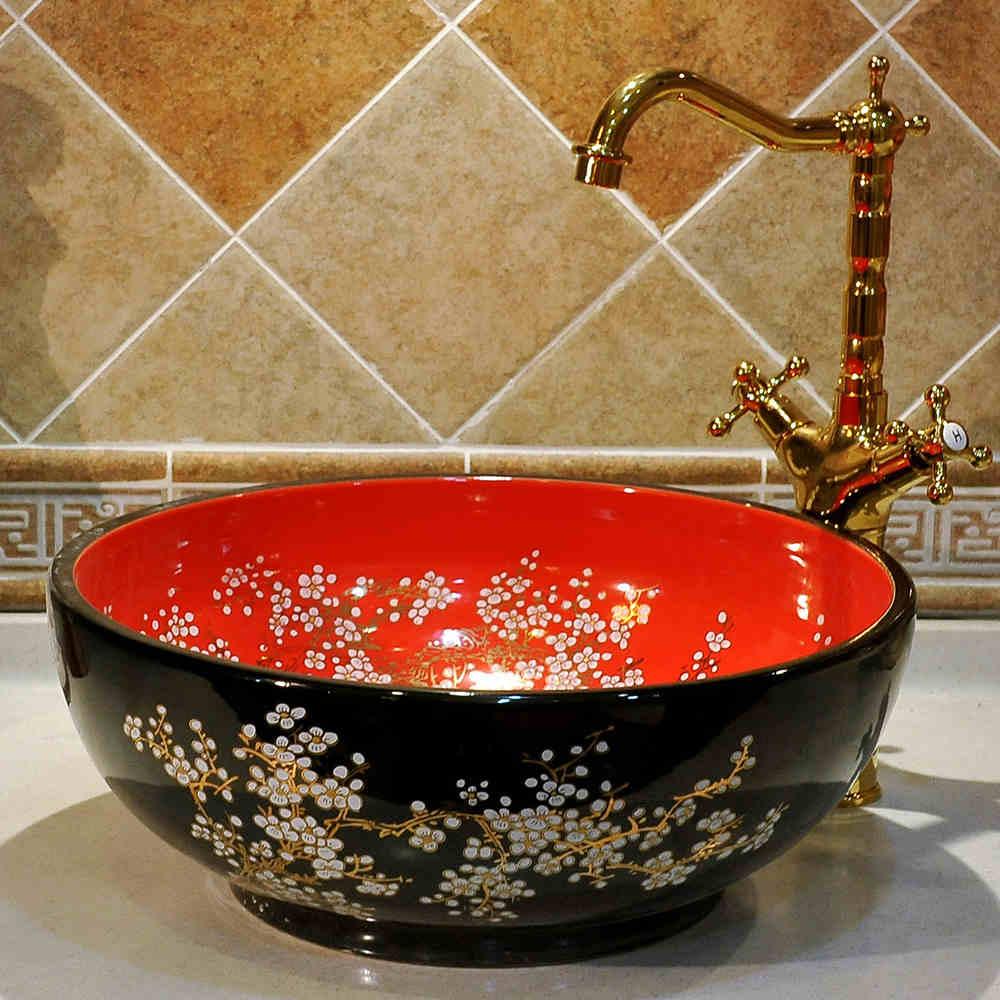 Countertop bowl art porcelain Ceramic bathroom sink wash