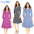 New Fashion Women Dress Sexy Bodycon Party Dresses Zip Back 3/4 Sleeve Vintage Casual Vestidos Pencil Dress Plus Size S-4XL
