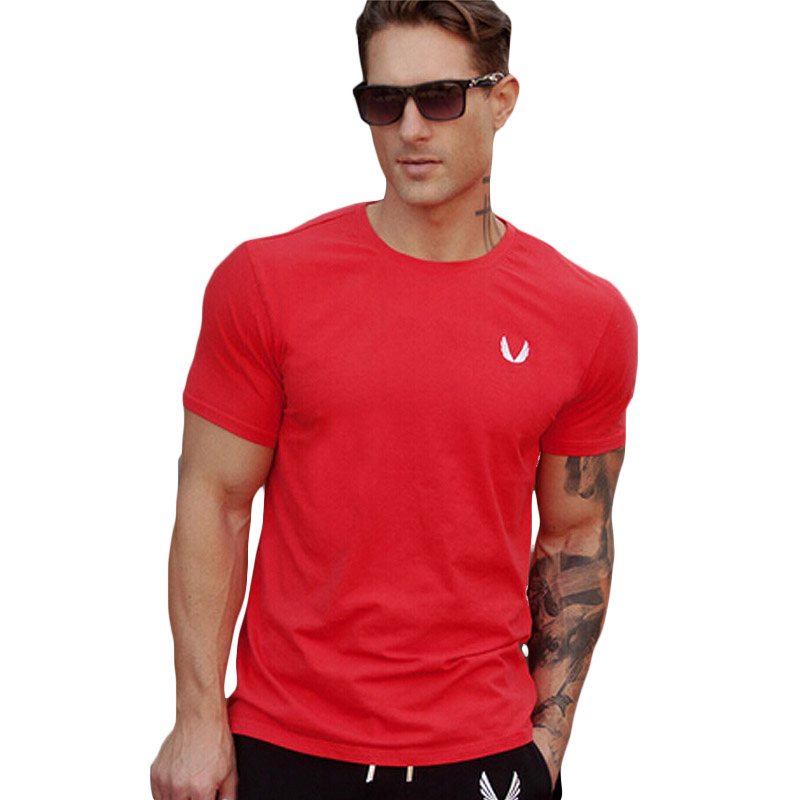 Mens Gym Shirts Muscle Golds Brand Fitness Bodybuilding Workout Clothes Sport Cotton Gold T Shirt Men Gasp Plus Size Top In From S Clothing
