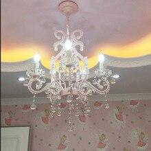 Kinder Kristall Kronleuchter Hochzeit Zimmer Im Europäischen Stil  Restaurant Lichter Amerikanischen Rosa Prinzessin Zimmer Mädchen