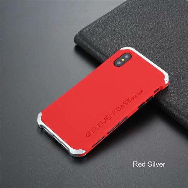 5da66c6b46f Element Armor Metal Iphone XS Max Case Hard PC Shockproof Coque Full ...