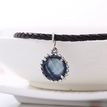 High Quality Authentic Blue Crystal charms silver 925 original Fit Pandora Bracelet 925 original Beads for jewelry Making Gift