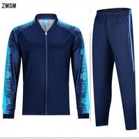 ZMSM Adult Autumn Winter Soccer Sets zipper Coat tracksuit Soccer jackets & pants Running Outdoor Football training suit BA G1