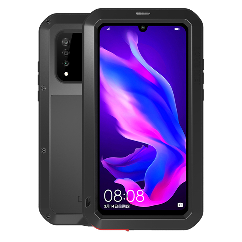 Powerful Full Body Case For Huawei P30 Lite Case Metal Armor Shockproof Waterproof With Gorrila Glass Cover For Huawei P30 Pro in Fitted Cases from Cellphones Telecommunications