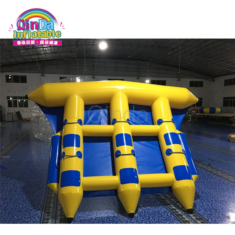 6 person Inflatable Fly Fish boat,Inflatable Flying Fish Tube Towable,Inflatable Water Fly Fish with Air Pump single inflatable flying fish towable tube inflatable flyfish banana boat water fun toy