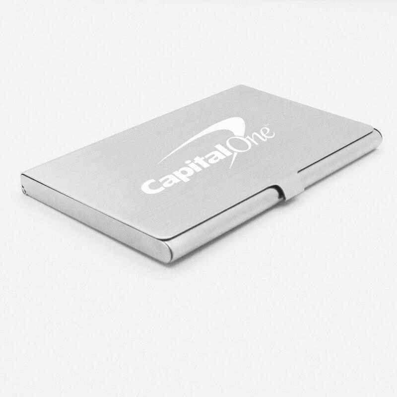 Promotional Business Card Holder Case Custom Logo Engraved Metal ...