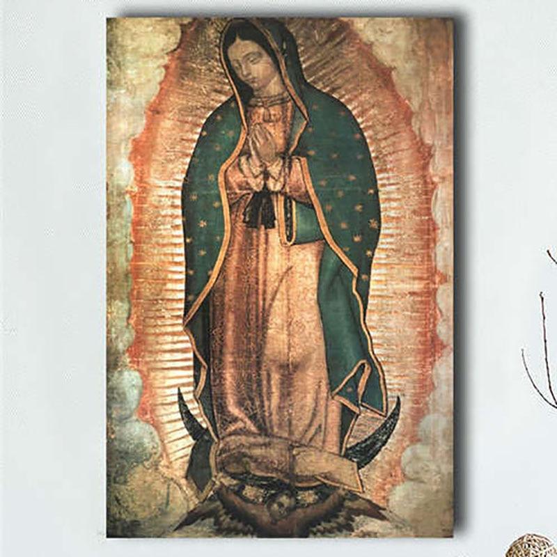 Картина с квадратными стразами 5D «сделай сам», картина с изображением христианской Девы Марии, мозаика для вышивки крестиком, настенное укр...