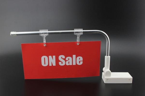 2 Pcs Supermarket Shelf Mount Banner Holder POP Advertising Price Tag Display Magnetic Category Sign Poster Hanging Label Holder