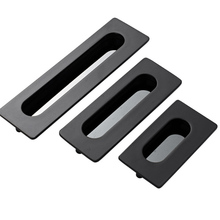 Trench Drawer Dark Handle Slotted Plane Wardrobe Cabinet Door Invisible Black/silver Zinc Alloy Hole Pitch 64mm 96mm128mm