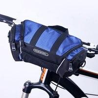 2016 Roswheel Mountain Bike Front Top Tube Bag Handlebar Cycling Pouch Bicycle Bycicle Tool Bag Pannier Handbag Shoulder Bag