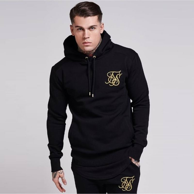 Fashion Men Hoodies and Sweatshirts brand clothing Top quality casual Male gyms Fitness bodybuilding Sik Silk Hooded Sweatshirt