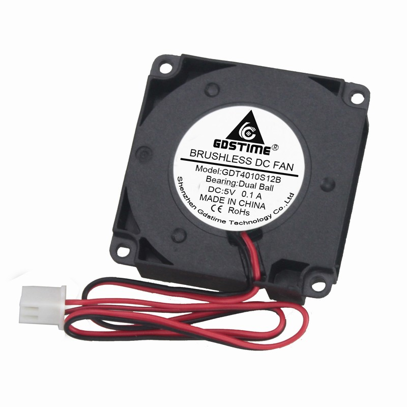 1 Pcs Gdstime 4cm 3D Printer Dual Ball Bearing 5V 40x40x10mm Blower Fan 40mm Small Cooler DC Brushless Cooling Fan 5 Volt in Fans Cooling from Computer Office