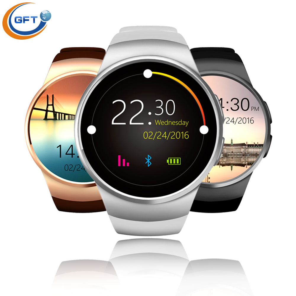 GFT kw18 Newest Bluetooth Smart Watch With Sim Card Smartwatch For Apple Samsung man business style with heart rate monitor