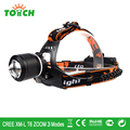 18650 rechargeable 10W 3800LM led headlight CREE XML T6 3 modes head flashlight tactical home lamp for night lighting