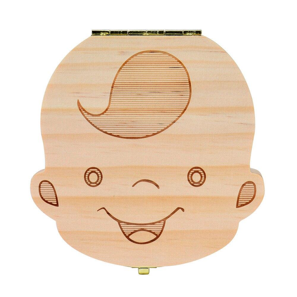 Hot Sale Tooth Box Organize For Baby Boy Milk Teeth Save Wood Storage Box For Kids Boy Bast Dentes De Leite Organizador Hot