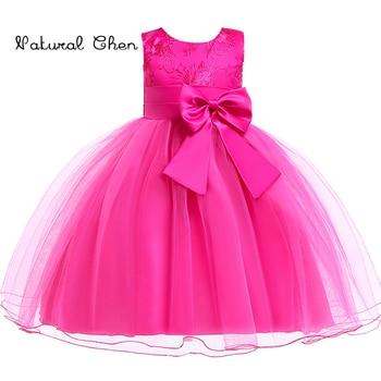 Princess Flower Girl Dress Summer 2019 Wedding Birthday Party Dresses For Girls Children's Costume Teenager Prom Designs