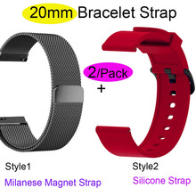 20mm Bracelet Band For Xiaomi Amazfit GTS Watchband Bip Wristband GTR 42mm Stainless Steel Metal Milanese Strap