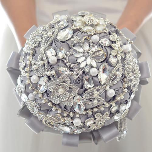 Luxury rhinestone Wedding Flowers Bridal Bouquets 2016 fashion buque de noiva High quality Brooch Wedding Bouquet  FW167