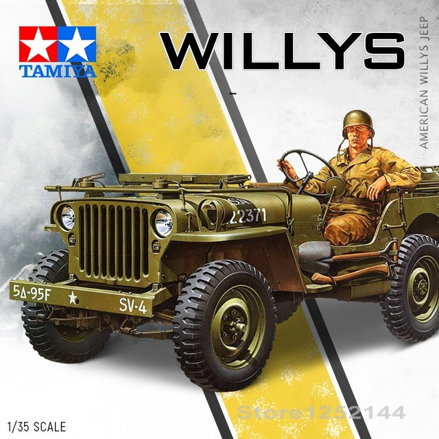 1 35 Scale Assembly Car Model World War Ii American Willys Jeep