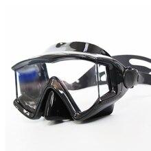 2018 плавательные очки дайвинг очки Удобная силиконовая большая рамка дайвинг очки Анти-туман зеркало маска для подводного плавания лягушка зеркало
