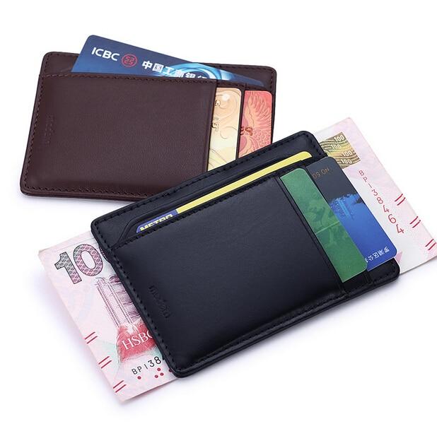 Modern - Brand New 2016 Genuine Leather Money Clip Wallets Money Organizer Men Wallets Clutch purse   V037