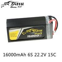 Tattu Lipo Battery 6S 16000mAh Lipo 22.2V 15C UAV Drone Battery for Quadcopter Frame FPV Drone Chargeable Battery