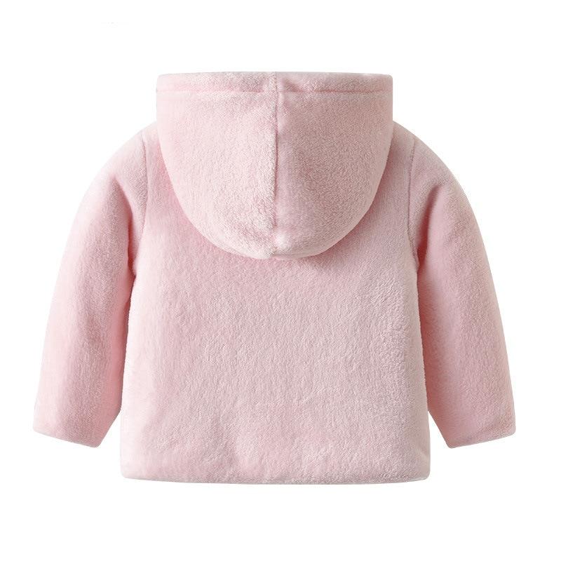42d796426 2018 Spring Baby Girl Hooded Cute Coat Infant Coral Fleece Jacket ...