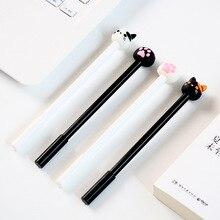 Ограниченное предложение «Милый кот» 4 шт. гелевая ручка Набор для рисования пишущих ручек 0,5 мм черные чернила канцелярские подарок для офиса