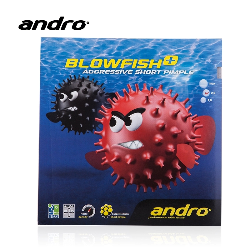 Andro Table Tennis Rubber Blowfish Aggressive Short Pimples Out Special With Sponge TENSOR Ping Pong Tenis De Mesa Accessories