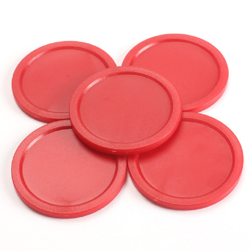 5Pcs Red 2-inch Mini Air Hockey 50mm Children Table Puck 4mm Thickness ABS Air Hockey Table Accessories