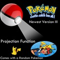Go Power Bank 12000 мАч Pokeball Pokemon Путешествия Батареи Функция Проекции LED Зарядное Устройство Универсальное Зарядное Устройство + Покемон Стикер