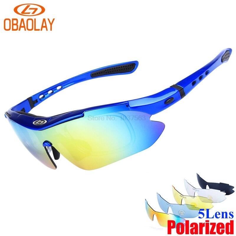 Prix pour Obaolay 5 lentille 2017 hommes polarisée uv400 lunettes de soleil vélo vélo lunettes verre de vélos vtt montagne vélo lunettes de soleil sports de plein air