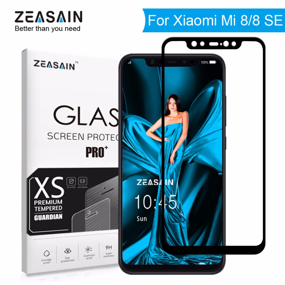 Original ZEASAIN Volle Abdeckung Gehärtetem Glas für Xiao mi mi 8 SE mi 8 Xio mi mi 8 SE Bildschirm protector 2.5D Gehärtetem Sicherheits Glas Film